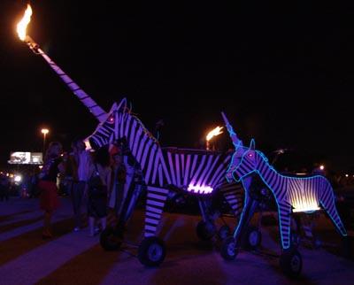 Flaming Zebras