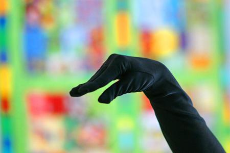 Glove w/bokeh